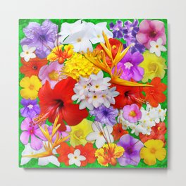 Exotic Flowers Colorful Explosion Metal Print
