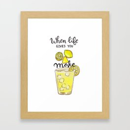 Make Lemonade Framed Art Print