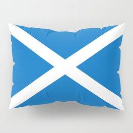 Blue and White Scottish Flag Pillow Sham