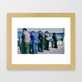 Local Tourists Framed Art Print