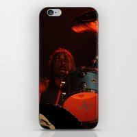 dave grohl iPhone & iPod Skins featuring dave grohl by Hattie Trott