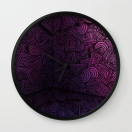 Patterns on the Wall Wall Clock
