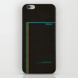 """Tron"" Film Inspired Vintage Movie Poster iPhone Skin"
