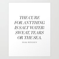 salt water Art Prints featuring Salt Water by Note to Self: The Print Shop