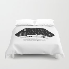 Happiness on a Dirt Road Duvet Cover