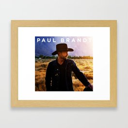 PAUL BRANDT NEW TOUR DATES 2018 / 209 CINDERLELA Framed Art Print
