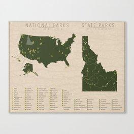 US National Parks - Idaho Canvas Print