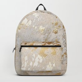 Gold Hide Print Metallic Backpack