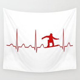 SNOWBOARDER'S HEARTBEAT Wall Tapestry