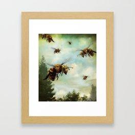 Crown of Bees Framed Art Print