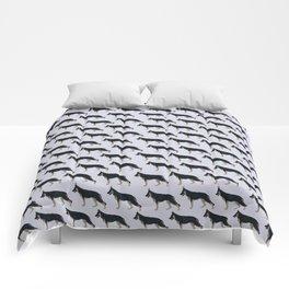 German Shepherd: Black & Tan Blanket Comforters
