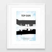 top gun Framed Art Prints featuring Top Gun Communicating  by NotThatMikeMyers