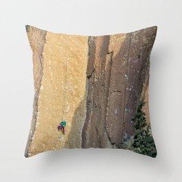 Rock Climbing At Smith Rock, No. 2 Throw Pillow