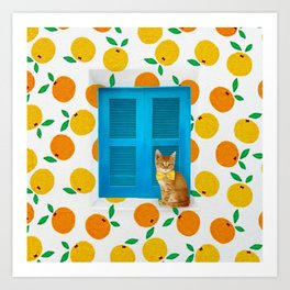 How Much is that Kitty in the Window? Art Print