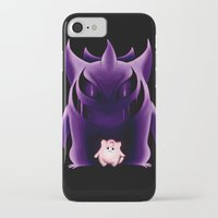 gengar iPhone & iPod Cases featuring Grim Gengar by JackiesGamingArt