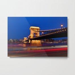 Szechenyi Chain bridge Metal Print