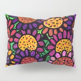 Playful Posies - Vase of Whimsical Flowers Pillow Sham