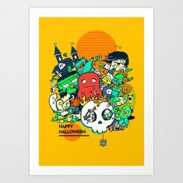 Borish Halloween Party Art Print