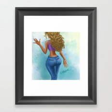 Care-Free Curls Framed Art Print