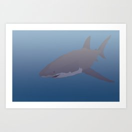 The great white Art Print