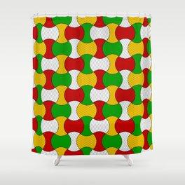 Ankara wax print Shower Curtain