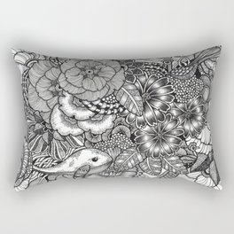 Adventure of Tiny Land Whales Rectangular Pillow