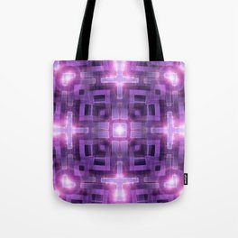 Pink Purple Squareza Tote Bag