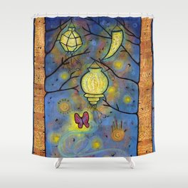 Touching the Light: One Danced with the Fireflies Illumination Print Shower Curtain