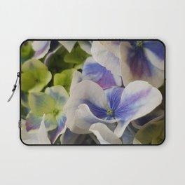 Hydrangea in Blue 3 - Close Up Like Butterflies Laptop Sleeve