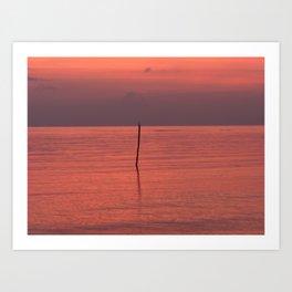 Alone in the Gulf Art Print