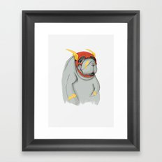 I`m Flash, dolphin-bitch! Framed Art Print