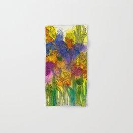 Bright Irises Hand & Bath Towel