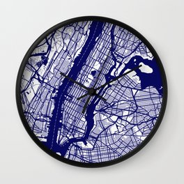 New York City Map 02 Wall Clock