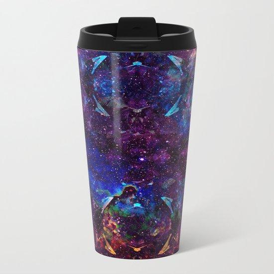 Rainbow Aura Quartz NebulÆ Metal Travel Mug