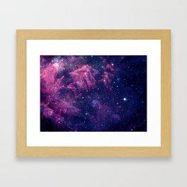 Space nebula Framed Art Print