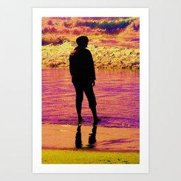 A sunset thunder Art Print