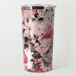Floral and Flemingo III Pattern Travel Mug