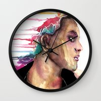sister Wall Clocks featuring Sister by Siriusreno