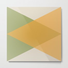 Mid Century - Yellow and Green Metal Print