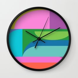 Color Block 03 Wall Clock