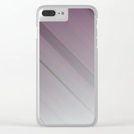 Lavender Subtlety - An Abstract Piece Clear iPhone Case