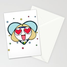 Space Frog In Love. Stationery Cards