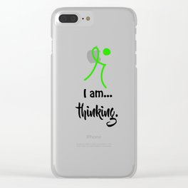 I am... thinking. Clear iPhone Case