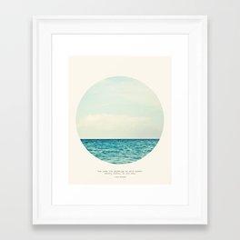 Salt Water Cure Framed Art Print