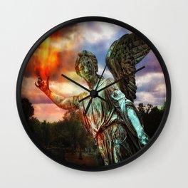 Burning Angel Wall Clock