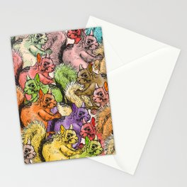 Squirrels Parade Stationery Cards