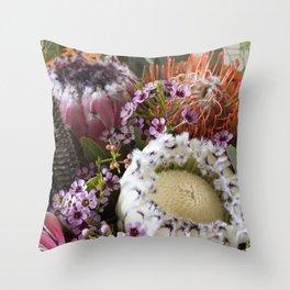 Protea arrangement Throw Pillow