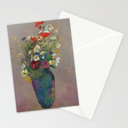 "Odilon Redon ""Vision - vase of flowers"" Stationery Cards"
