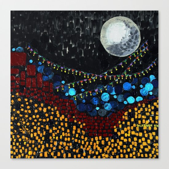 :: Veranda Moon :: Canvas Print