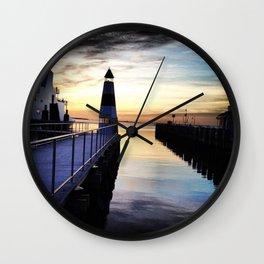 Port Jefferson Ferry Dock Wall Clock